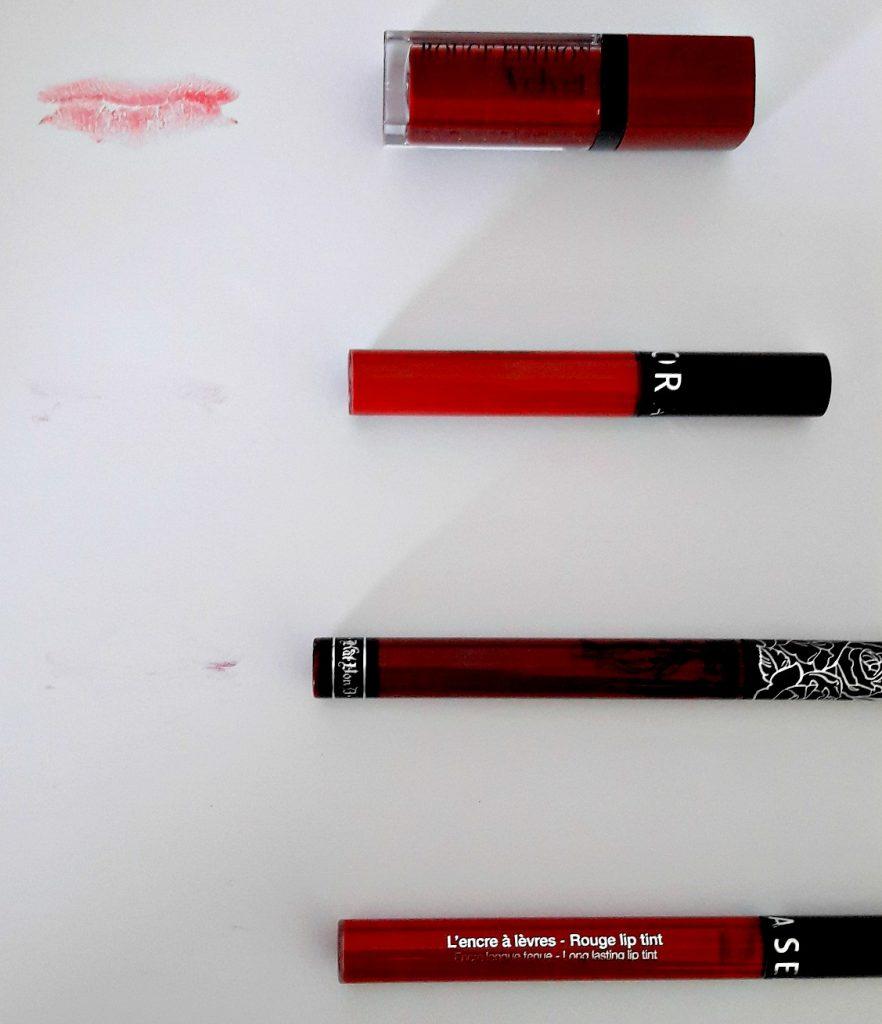 comparatif rouges à lèvres sans transfert